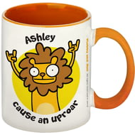 Personalised Cause An Uproar Orange Inside Mug
