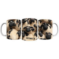 Personalised Shaun The Sheep Group Print Mug