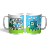 Personalised Adventure Time Video Games Mug