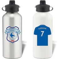 Personalised Cardiff City FC Shirt Aluminium Sports Water Bottle