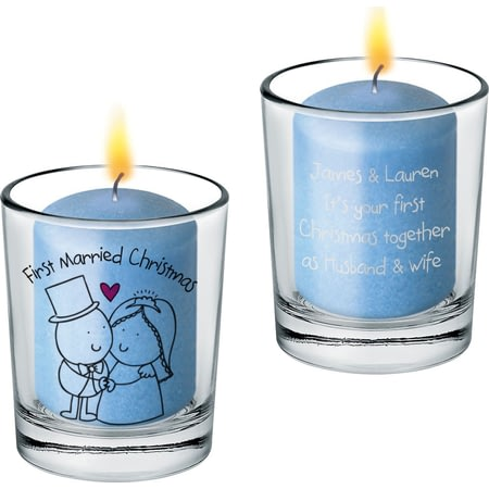 Personalised Chilli And Bubbles Married Christmas Votive