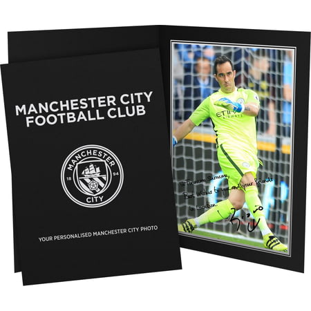 Personalised Manchester City FC Bravo Autograph Photo Folder