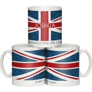 Personalised Shabby Chic Union Jack Ceramic Mug