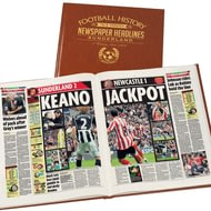 Personalised Sunderland Football Newspaper Book - Leatherette Cover