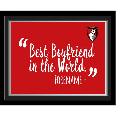 Personalised Bournemouth Best Boyfriend In The World 10x8 Photo Framed
