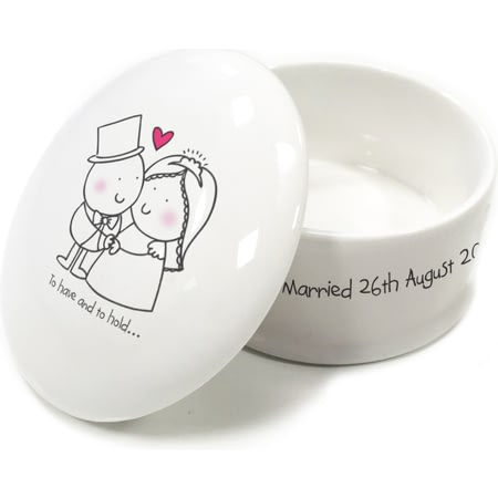 Personalised Chilli & Bubble's To Have & To Hold Trinket Box