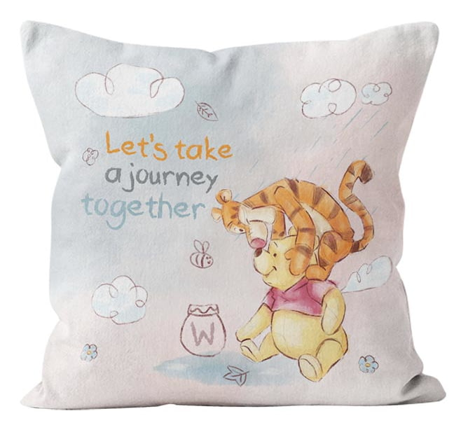 5e55bae95508 Personalised Winnie The Pooh   Tigger Let s Take A Journey Together Cushion  - 45x45cm from Go Find A Gift
