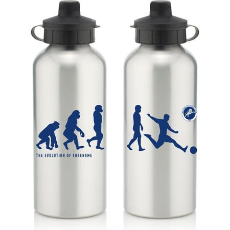 Personalised Millwall FC Player Evolution Aluminium Sports Water Bottle