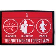 Personalised Nottingham Forest FC Way Rubber Backed Door Mat