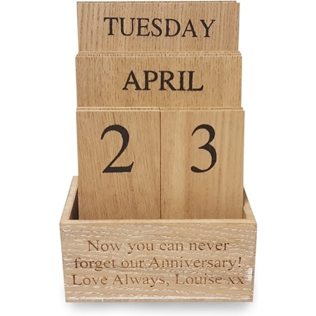 Personalised Wooden Desktop Calendar