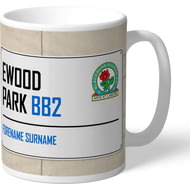 Personalised Blackburn Rovers FC Ewood Park Street Sign Mug