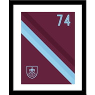 Personalised Burnley FC Stripe Framed Print