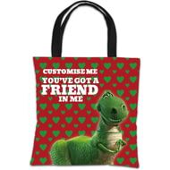 "Personalised Toy Story Rex Valentines ""You Gotta Friend In Me"" Tote Bag"