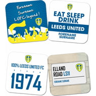 Personalised Leeds United FC Coasters