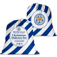Personalised Leicester City FC Christmas Delivery Santa Sack