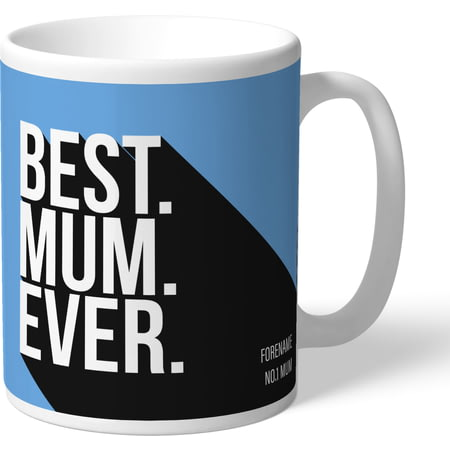 Personalised Manchester City FC Best Mum Ever Mug