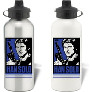 Personalised Star Wars Han Solo Pop Art Aluminium Aluminium Sports Water Bottle