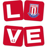 Personalised Stoke City FC Love Coasters (x4)