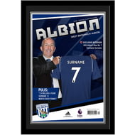 Personalised West Bromwich Albion FC Magazine Front Cover Photo Framed