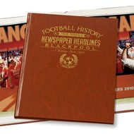 Personalised Blackpool Football Newspaper Book - Leatherette Cover