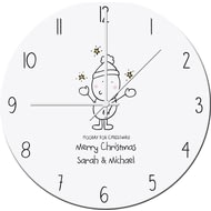 Personalised Chilli And Bubbles Generic Christmas Clock