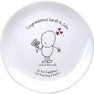 Personalised Chilli & Bubble's Engagement Plate