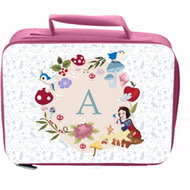 Personalised Disney Princess Snow White Initial Pink Lunch Bag