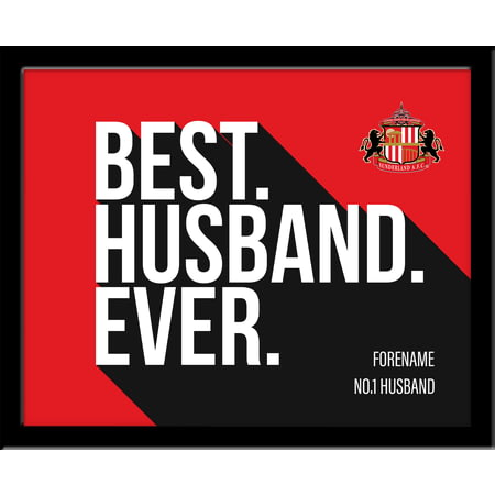 Personalised Sunderland AFC Best Husband Ever 10x8 Photo Framed