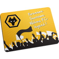 Personalised Wolves Legend Mouse Mat