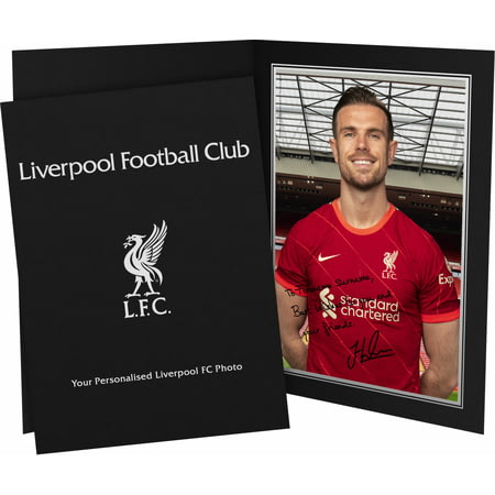 Personalised Liverpool FC Henderson Autograph Photo Folder
