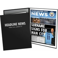 Personalised Manchester City FC Spoof Newspaper Folder