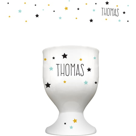 Personalised Name In Stars Ceramic Egg Cup