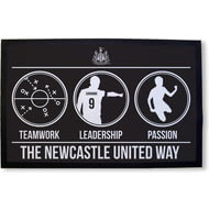 Personalised Newcastle United FC Way Rubber Backed Door Mat