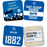 Personalised Queens Park Rangers FC Coasters