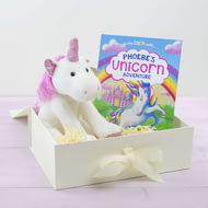 Personalised Unicorn Story Personalised Book And Plush Toy Giftset