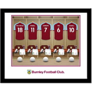 Personalised Burnley FC Dressing Room Shirts Framed Print