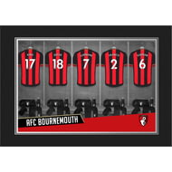 Personalised AFC Bournemouth 9x6 Dressing Room Shirts Photo Folder