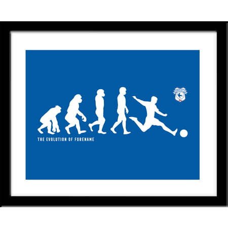 Personalised Cardiff City Evolution Framed Print