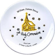 "Personalised Church Communion 8"" Bone China Coupe Plate"