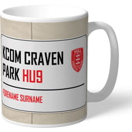 Personalised Hull Kingston Rovers Kcom Craven Park Street Sign Mug