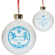 Personalised In The Night Garden Snowtime Ceramic Christmas Tree Bauble