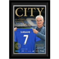 Personalised Leicester City FC Magazine Front Cover Photo Framed