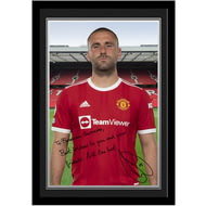 Personalised Manchester United FC Shaw Autograph Photo Framed