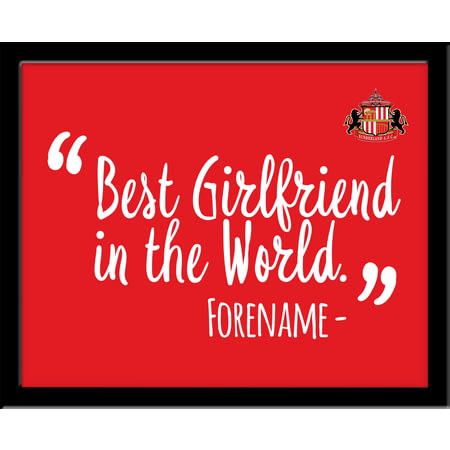Personalised Sunderland AFC Best Girlfriend In The World 10x8 Photo Framed