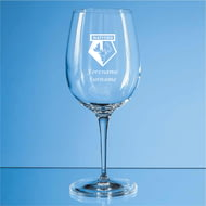 Personalised Watford FC Personalised Crest 480ml Wine Glass