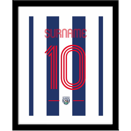 Personalised West Bromwich Albion Retro Shirt Framed Print
