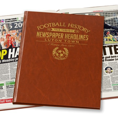 Personalised Luton Town Football Newspaper Book