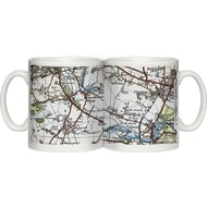 Personalised 1919 - 1926 Popular Edition Map Of Your Postcode Ceramic Mug