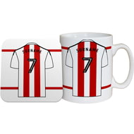 Personalised Brentford FC Shirt Mug & Coaster Set