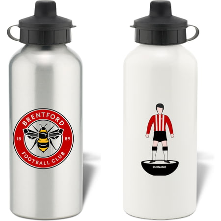 Personalised Brentford Player Figure Aluminium Sports Water Bottle